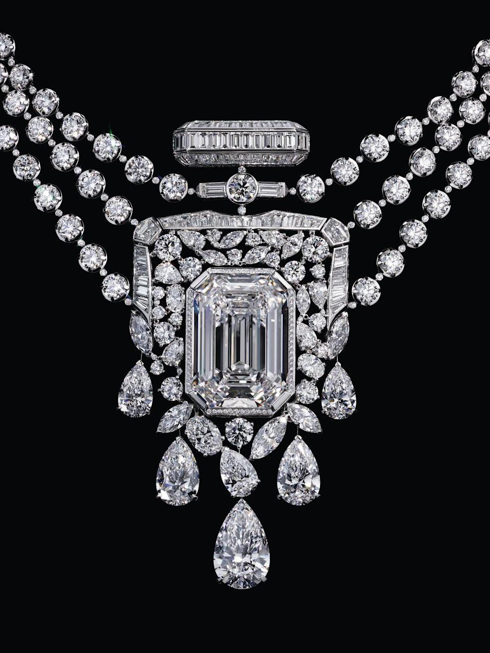 Photo credit: 55.55 Necklace' in 18K  White Gold and Diamonds by CHANEL High Jewellery