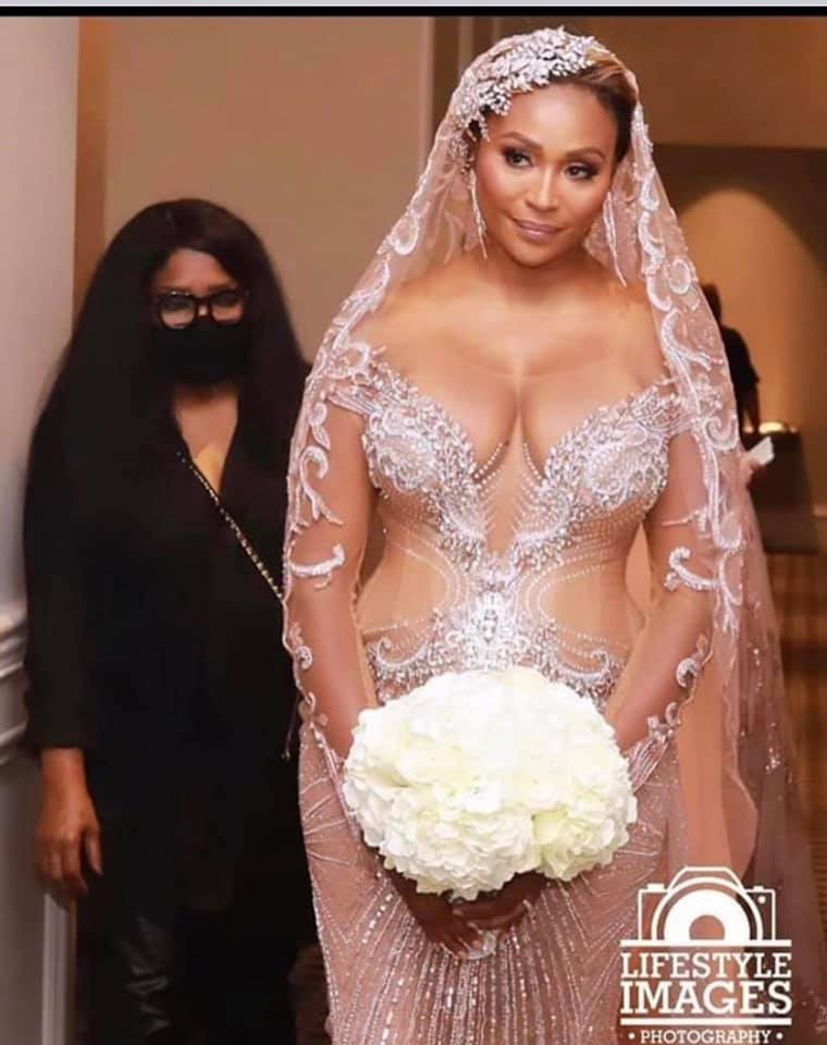 A reality star has been roasted over her 'naked' wedding dress. Photo: Lifestyle Images Photography via Facebook.