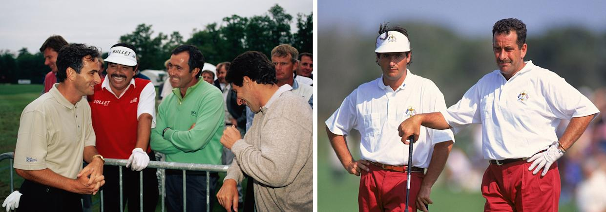 """<div class=""""caption""""> Feherty with his contemporaries on the European Tour (left) during his playing days, which included competing for Europe in the 1991 Ryder Cup. </div> <cite class=""""credit"""">Getty Images (2)</cite>"""