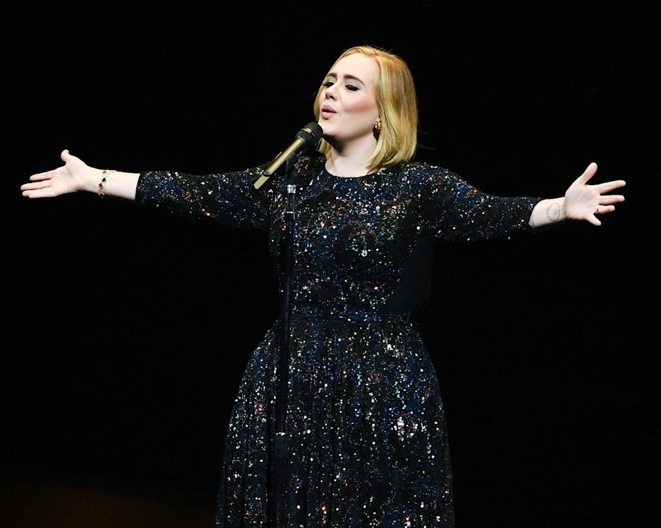 <p>Adele got a tattoo of the planet Saturn around 2017 when she hit her Saturn return. Two years later, as she explained in her recent <strong>Vogue</strong> interview, she got a mountain on her wrist to symbolize constantly feeling like she's trying to reach the top of a mountain.</p>