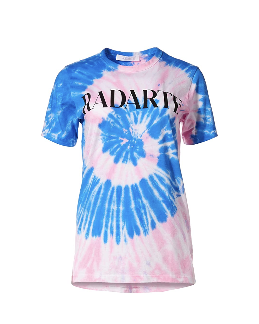 """<p><em>Rodarte Radarte Logo T-Shirt, $150</em></p><p><a class=""""link rapid-noclick-resp"""" href=""""https://www.amazon.com/dp/B0921C81M2/ref=cm_sw_r_cp_api_glt_fabc_ZBJTVCSGHY9VACQZ3E1E?tag=syn-yahoo-20&ascsubtag=%5Bartid%7C10056.g.36320745%5Bsrc%7Cyahoo-us"""" rel=""""nofollow noopener"""" target=""""_blank"""" data-ylk=""""slk:SHOP NOW"""">SHOP NOW</a></p><p>As a fashion-industry favorite, seeing Rodarte in Luxury Stores speaks volumes for Amazon's status in the style game. Along with ready-to-wear, the Mulleavy sisters's cheeky """"Radarte"""" merch is included.</p>"""