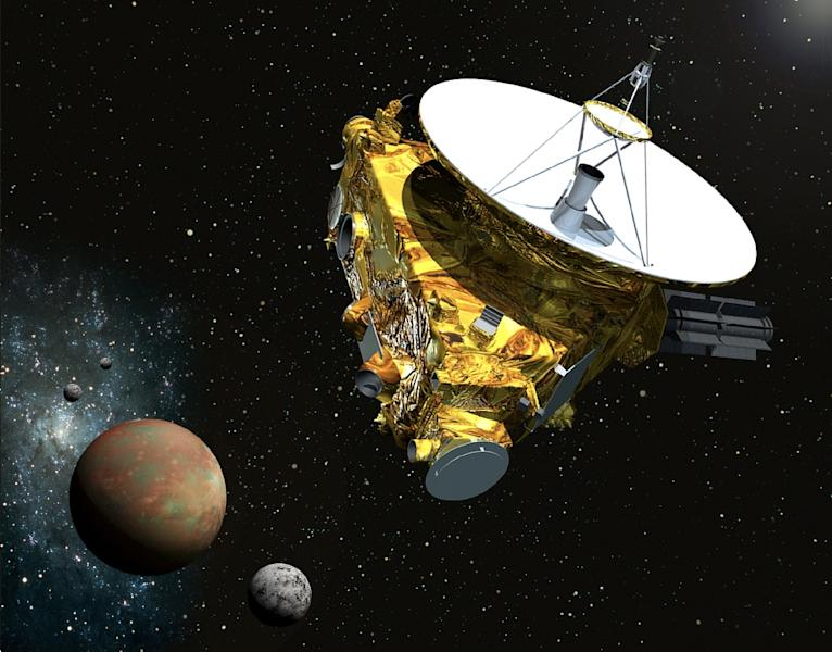 Artist's concept drawing shows NASA's New Horizons spacecraft which is scheduled to make a historic flyby of Pluto on July 14 (AFP Photo/)
