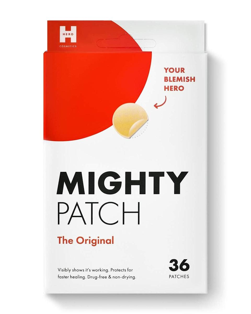 """<p>""""Hydrocolloid adhesive stickers such as the <span>Mighty Patch</span> ($12) that contain certain active ingredients such as salicylic acid and/or tea tree oil, which are delivered to the spot while it's in place. By covering the pimple, these active ingredients are able to penetrate the skin more deeply, allowing them to potentially work better."""" - dermatologist <a href=""""https://www.instagram.com/drsharimarchbein/"""" class=""""link rapid-noclick-resp"""" rel=""""nofollow noopener"""" target=""""_blank"""" data-ylk=""""slk:Shari Marchbein"""">Shari Marchbein</a>, MD</p>"""