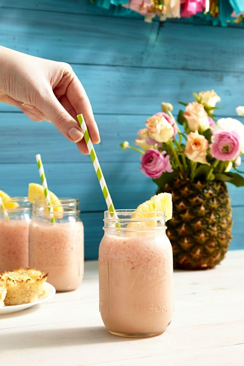 """<p>Mix up this riff on your favorite tropical cocktail.</p><p>Get the recipe from <a href=""""https://www.delish.com/cooking/recipe-ideas/recipes/a46570/watermelon-pina-coladas-recipe/"""" rel=""""nofollow noopener"""" target=""""_blank"""" data-ylk=""""slk:Delish"""" class=""""link rapid-noclick-resp"""">Delish</a>.</p>"""