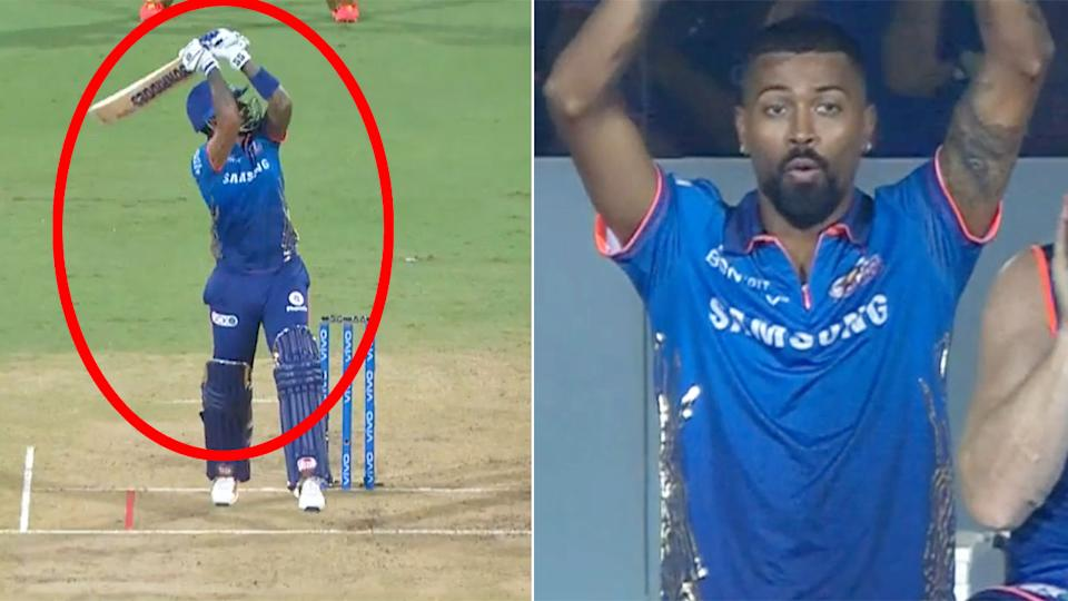 Seen here, the massive Suryakumar Yadav six that left cricket viewers stunned.