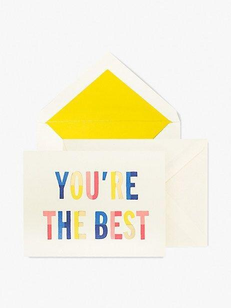 Kate Spade You're the Best Card