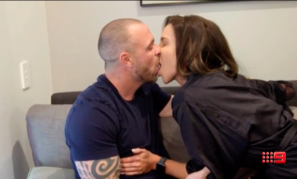 MAFS Cam and Coco kissing