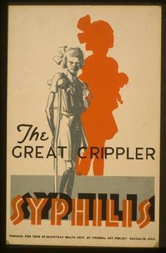Poster from syphilis scare