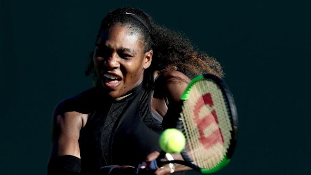 With the French Open looming, Serena Williams put in the work at Roland Garros on Monday.
