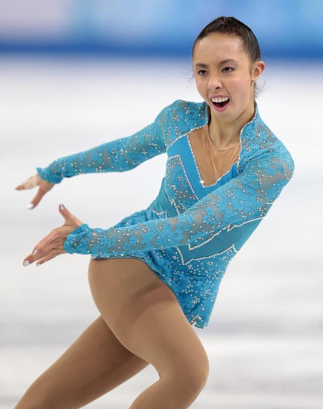 Brooklee Han of Australia competes in the women's short program figure skating competition at the Iceberg Skating Palace during the 2014 Winter Olympics, Wednesday, Feb. 19, 2014, in Sochi, Russia. (AP Photo/Ivan Sekretarev)
