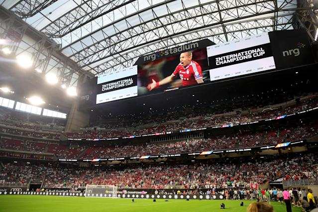 Even a clash between European powers Real Madrid and and Bayern Munich didn't entice a huge crowd in Houston. (Getty)