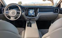 <p>Starting at a base price of $39,895, T5 models get a turbocharged 2.0-liter inline-four mated to an eight-speed automatic. We've praised the powertrain's performance in other Volvos, and its 250 horsepower and 258 pound-feet of torque move the wagon with verve.</p>