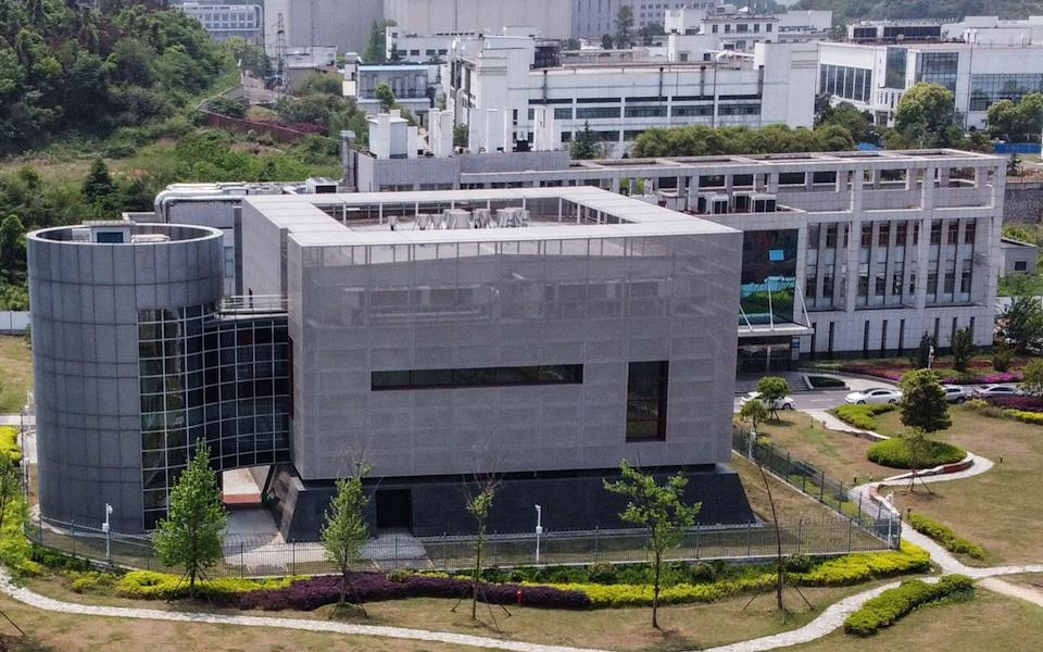 An aerial view shows the P4 laboratory at the Wuhan Institute of Virology in Wuhan in China's central Hubei province on April 17, 2020 - HECTOR RETAMAL /AFP
