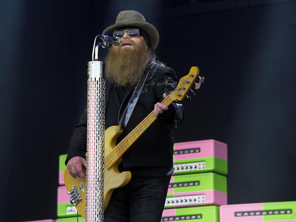 Dusty Hill performs at the Glastonbury Festival on 24 June 2016  (ANDY BUCHANAN/AFP via Getty Images)