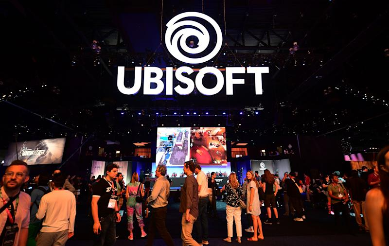Gaming fans play Ubisoft games at the 2019 Electronic Entertainment Expo, also known as E3, opening in Los Angeles, California on June 11, 2019. - Gaming fans and developers gather, connecting thousands of the brightest, best and most innovative in the interactive entertainment industry and a chance for many to preview new games. (Photo by Frederic J. BROWN / AFP) (Photo credit should read FREDERIC J. BROWN/AFP via Getty Images)