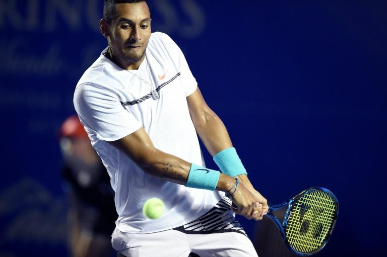 Australia's Nick Kyrgios in action during the Mexican Open in March 2017