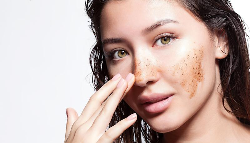 Exfoliating is an important part of any at-home facial.  (Photo: deniskomarov via Getty Images)