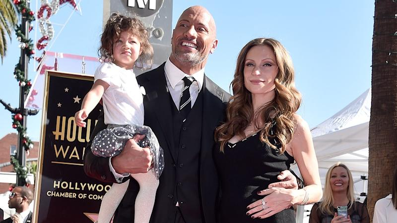Dwayne Johnson Teaches His Daughter How to Swim -- Pic!