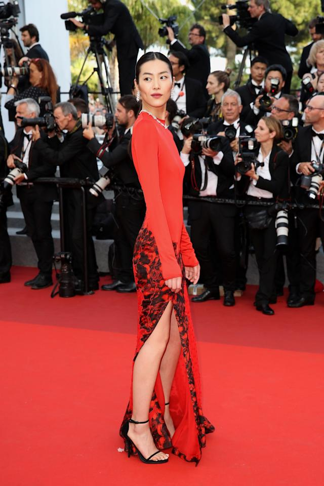 "<p>CANNES, FRANCE – MAY 24: Liu Wen attends the ""The Beguiled"" screening during the 70th annual Cannes Film Festival at Palais des Festivals on May 24, 2017 in Cannes, France. (Photo by Chris Jackson/Getty Images) </p>"