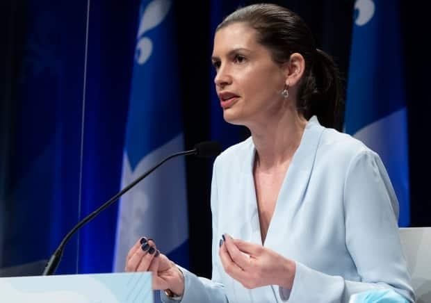 Public Security Minister Geneviève Guilbault announced the majority of the funding will be used to create a new program that aims to fight more effectively and sustainably against the sexual exploitation of minors.  (Jacques Boissinot/The Canadian Press - image credit)