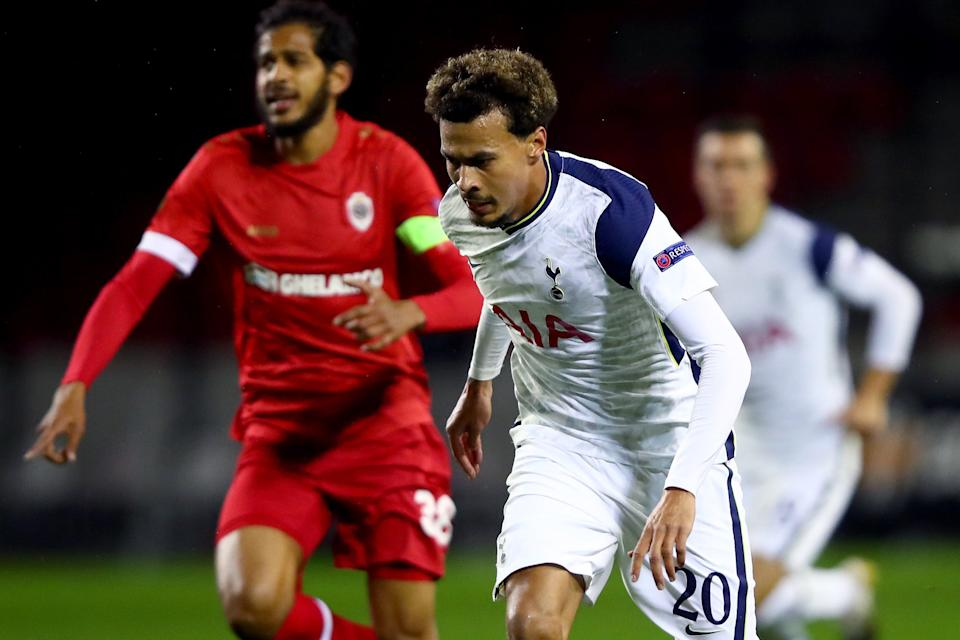 <p>Dele Alli was hooked, along with three others, at half-time</p>Getty Images