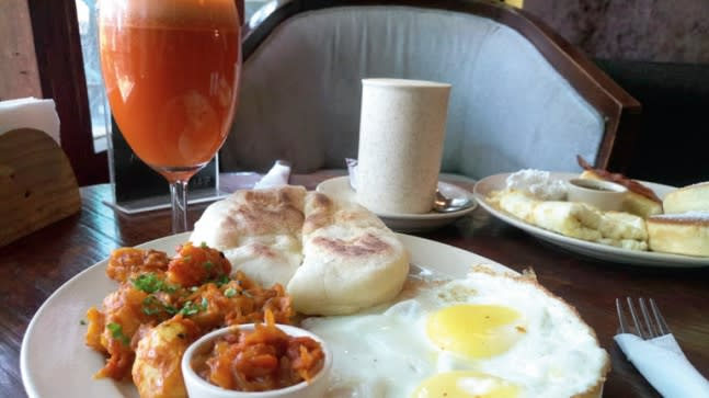 With the mercury soaring, a hearty breakfast may be the best way to begin your day.