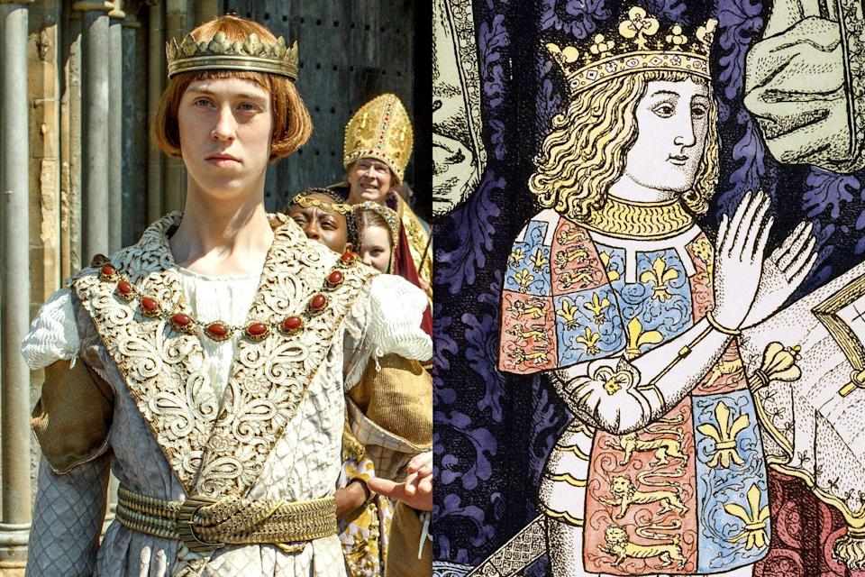 <p>Before Catherine was married to Prince Harry, she was wed to his older brother Prince Arthur Tudor, the Prince of Wales. In <em>The Spanish Princess</em>, the ill-fated royal is played by Angus Imrie.</p>