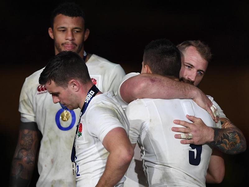 England's players were heartbroken at the final whistle: Getty