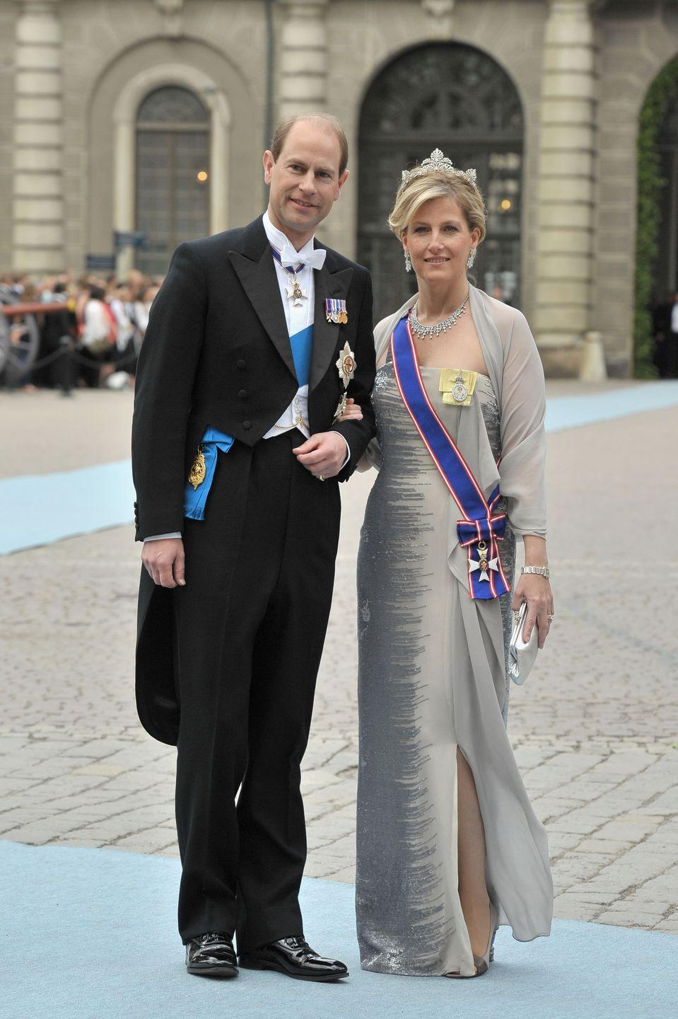 <p>Sophie and Prince Edward, the Earl of Wessex, began dating in 1993, were married in 1999, and now have two children, Lady Louise Windsor and James, Viscount Severn.</p>