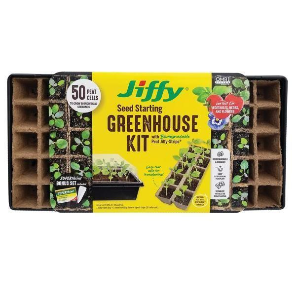 """<p>homedepot.com</p><p><strong>$6.78</strong></p><p><a href=""""https://go.redirectingat.com?id=74968X1596630&url=https%3A%2F%2Fwww.homedepot.com%2Fp%2FJiffy-Peat-Strips-N-Greenhouse-Seed-Starting-Kit-with-SUPERthrive-and-Labels-TS50HST-16H%2F310004237&sref=https%3A%2F%2Fwww.housebeautiful.com%2Flifestyle%2Fg36036673%2Fgrow-a-spring-garden%2F"""" rel=""""nofollow noopener"""" target=""""_blank"""" data-ylk=""""slk:Shop Now"""" class=""""link rapid-noclick-resp"""">Shop Now</a></p><p>Staying organized is key when it comes to gardening. These 50 peat pots come with plant markers to keep track of what you're planting, which makes it easy to transfer the pot directly into your soil.</p>"""