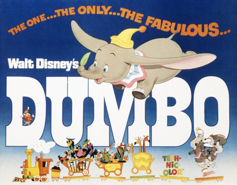 Dumbo, poster, 1941. (Photo by LMPC via Getty Images)