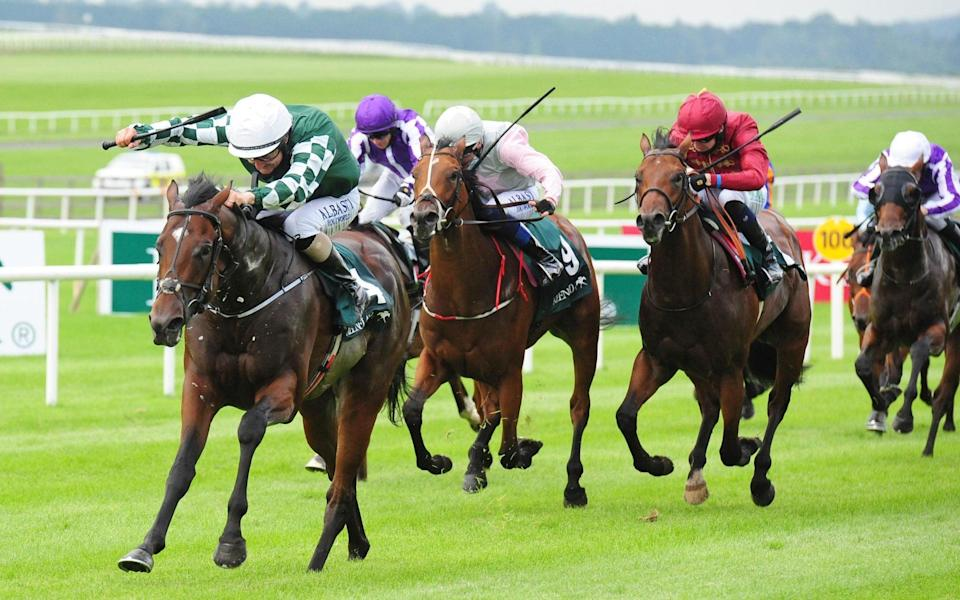 Lucky Vega ridden by Shane Foley winning the Keeneland Phoenix Stakes at Curragh Racecourse. - PA