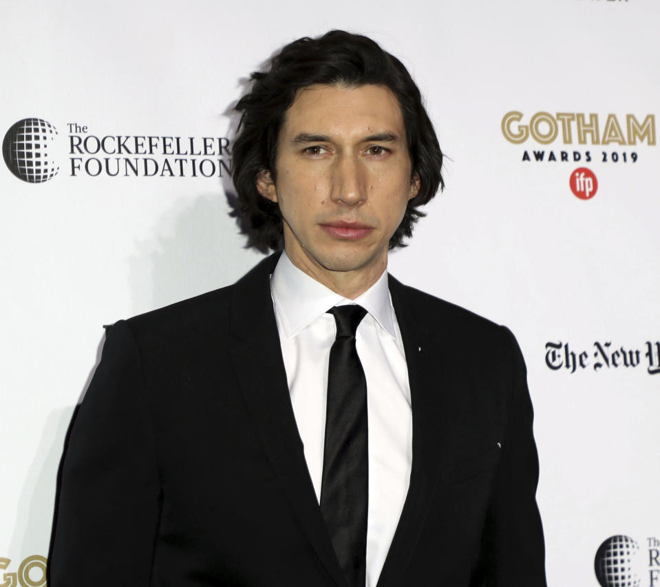 """Nominees for the 92nd Annual Academy Awards (Oscars) - ceremony to be held Sunday, February 9th, 2020 - Adam Driver nominated for Best Actor In A Leading Role for """"Marriage Story"""" which was also nominated for Best Picture. - File Photo by: zz/John Nacion/STAR MAX/IPx 2019 12/2/19 Adam Driver at the Independent Filmmaker Project's 29th Annual IFP Gotham Awards held at Cipriani Wall Street on December 2, 2019 in New York City. (NYC)"""