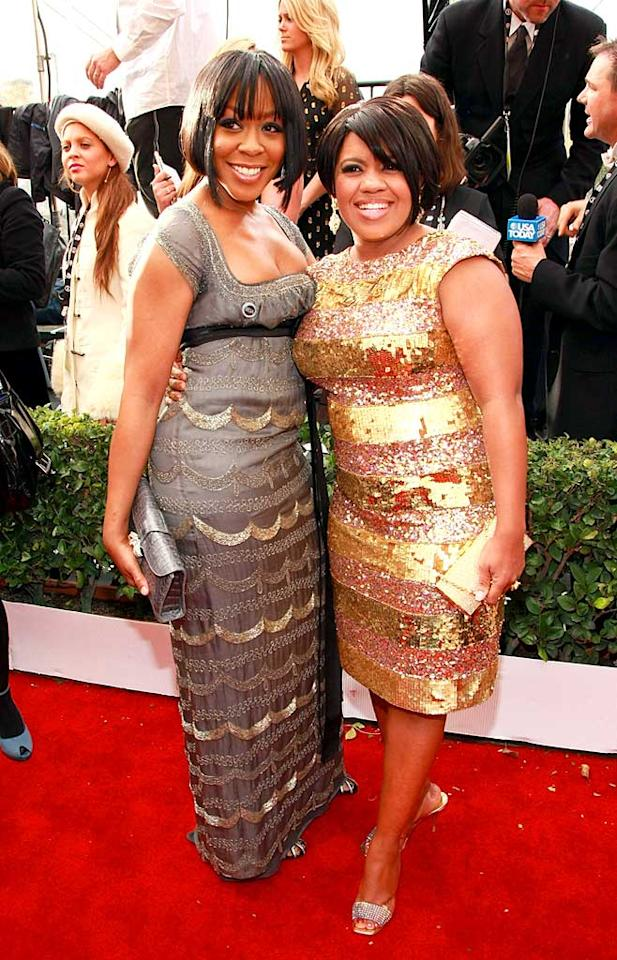"""With their glittery dresses and mod hairstyles, Tichina Arnold (""""Everybody Hates Chris"""") and Chandra Wilson (""""Grey's Anatomy"""") could be members of a 1960s girl group. Dimitrios Kambouris/<a href=""""http://www.wireimage.com"""" target=""""new"""">WireImage.com</a> - January 27, 2008"""