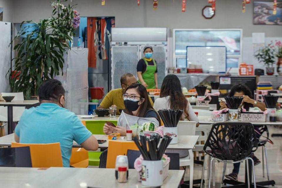 Super Kitchen Chili Pan Mee has seen a steady flow of customers who have opted to dine-in at the restaurant located in USJ 10, Subang Jaya. — Picture by Shafwan Zaidon