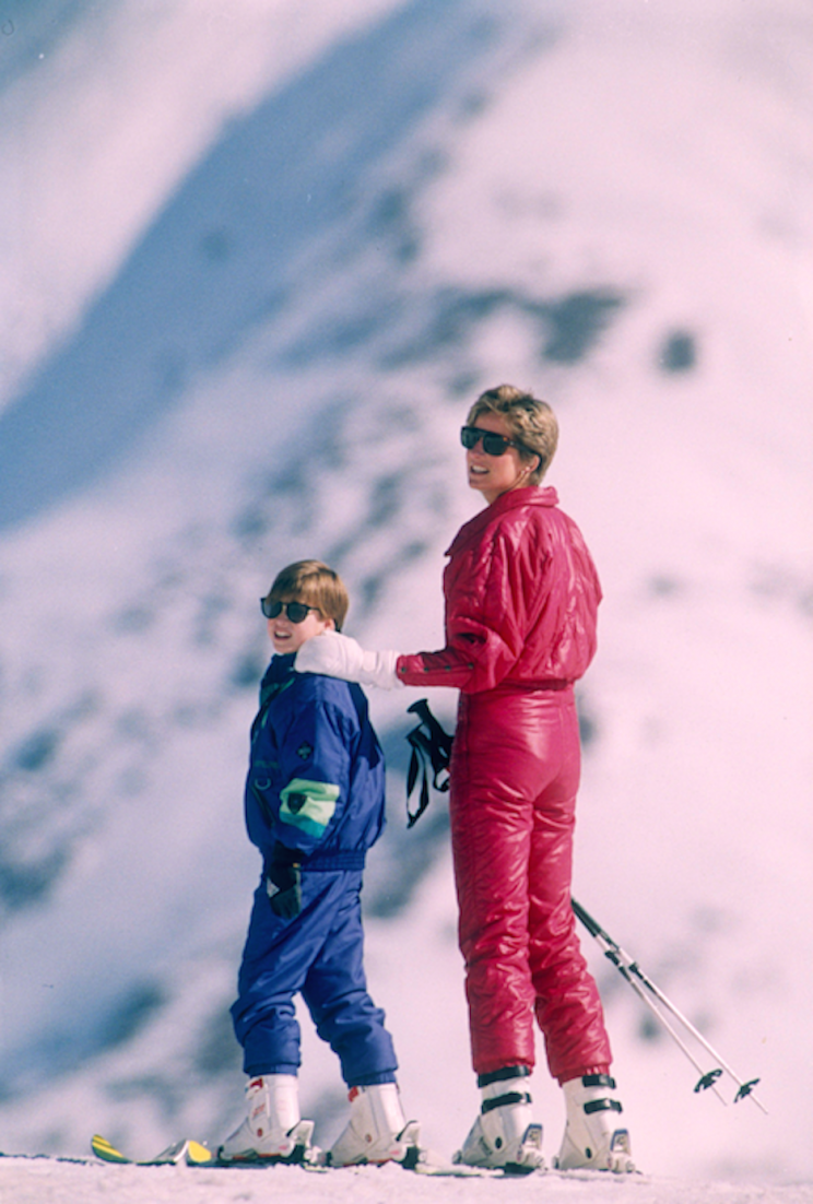 Diana and William skiing in Austria (Picture: Rex)
