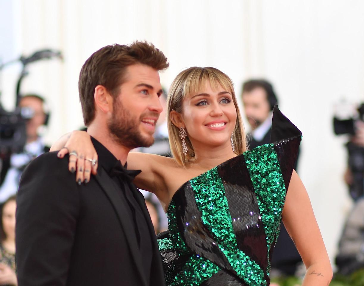 """<p>In May 2019, Liam attended his <a href=""""https://www.popsugar.com/celebrity/Miley-Cyrus-Liam-Hemsworth-2019-Met-Gala-46117442"""" class=""""ga-track"""" data-ga-category=""""Related"""" data-ga-label=""""https://www.popsugar.com/celebrity/Miley-Cyrus-Liam-Hemsworth-2019-Met-Gala-46117442"""" data-ga-action=""""In-Line Links"""">first-ever Met Gala</a> with Miley. </p>"""