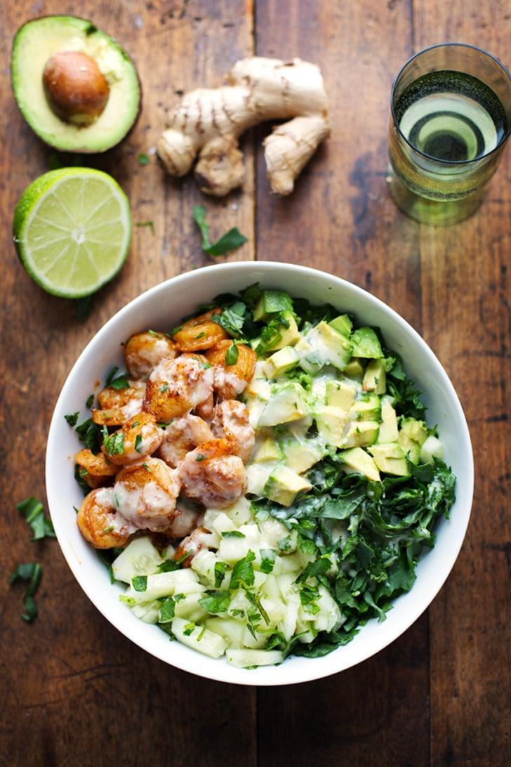 """<p>Be warned: you may want to put <a href=""""http://pinchofyum.com/spicy-shrimp-avocado-salad-miso-dressing"""" class=""""link rapid-noclick-resp"""" rel=""""nofollow noopener"""" target=""""_blank"""" data-ylk=""""slk:this salad's tangy ginger-miso dressing"""">this salad's tangy ginger-miso dressing</a> on everything in sight.</p>"""