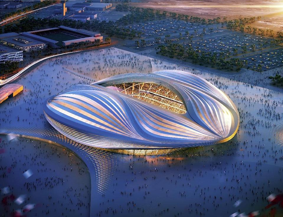 The Al-Wakrah Stadium, which looks impressive in promotional images, should be completed this year, Qatari officials say (AFP Photo/-)