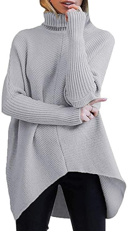 <p>The <span>Turtleneck Long Sleeve Sweater</span> ($36) in grey is always a great basic.</p>