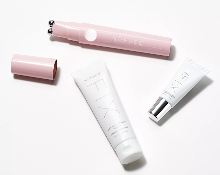 The Fix Smoothing device comes in White, Ice Shimmer and Blush Pink (above). (Photo: QVC)