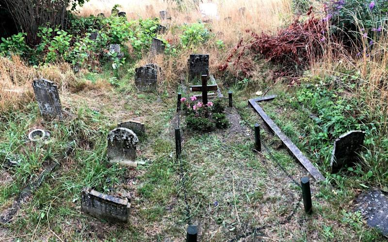 The grave was rediscovered by family members in 2017 - PA