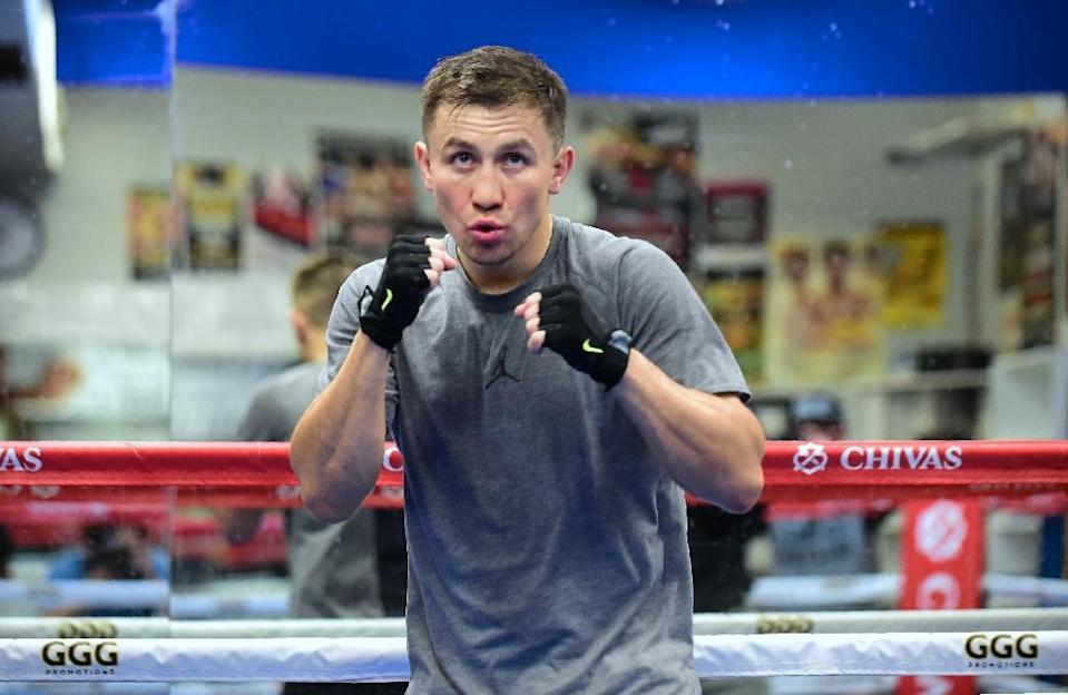 """Gennady Golovkin said he was willing to fight Saul """"Canelo"""" Alvarez regardless of the outcome of a Nevada State Athletic Commission investigation into a positive drugs test by Alvarez (AFP Photo/Frederic J. Brown)"""