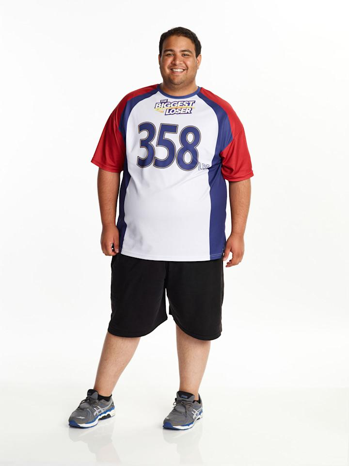 "Bobby Saleem competes on NBC's ""The Biggest Loser"" Season 15."