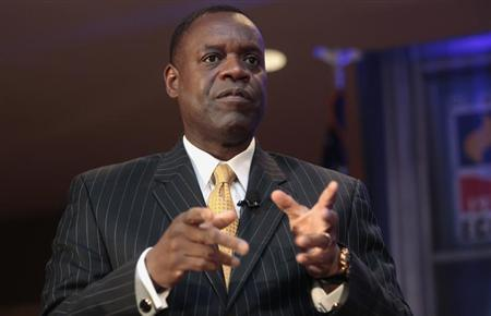 Detroit's emergency manager Orr speaks to members of the Detroit Economic Club in Detroit, Michigan