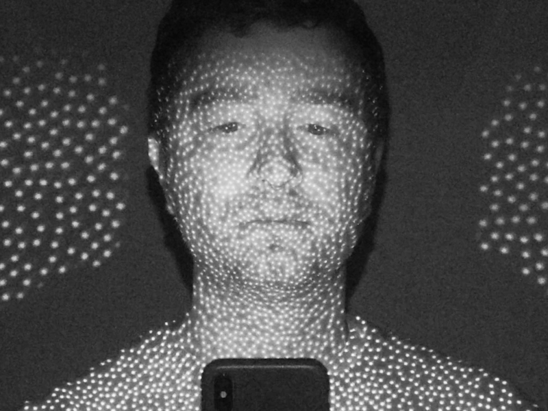 We used an infrared camera to show how the iPhone X's FaceID actually works
