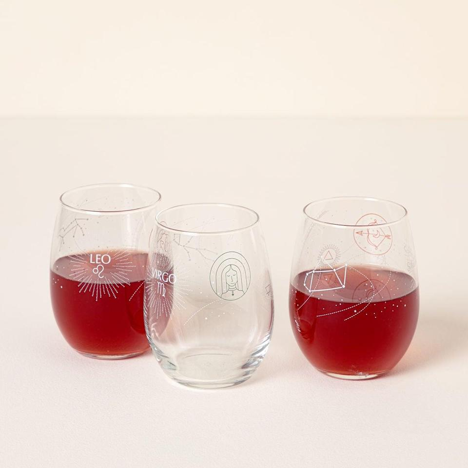 <p>The stars aligned for you to treat them to this fun <span>Astrology Wine Glass</span> ($16). It's something they'll use all the time, whether it's a glass of wine after a long day or a cool cocktail.</p>