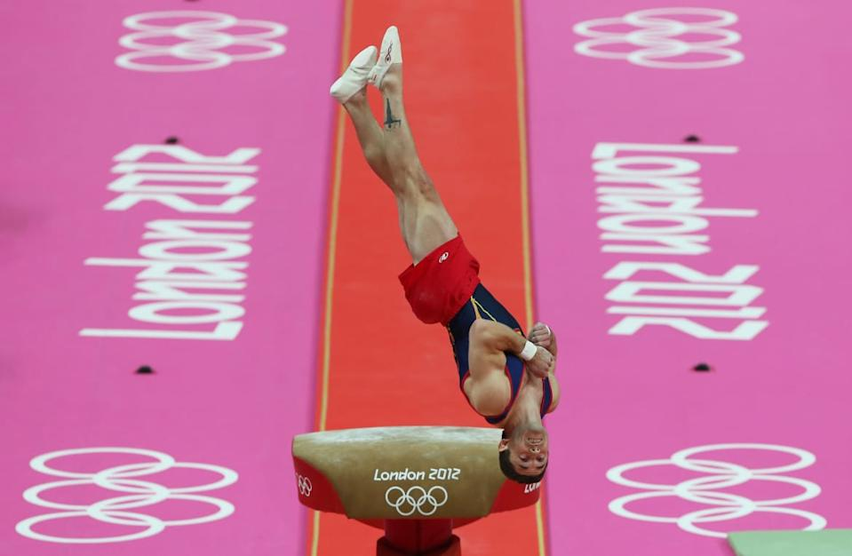 "<div class=""inline-image__caption""><p>Isaac Botella Perez of Spain competes in the Artistic Gymnastics Men's Vault final on Day 10 of the London 2012 Olympic Games at North Greenwich Arena on August 6, 2012 in London, England.</p></div> <div class=""inline-image__credit"">Quinn Rooney/Getty</div>"
