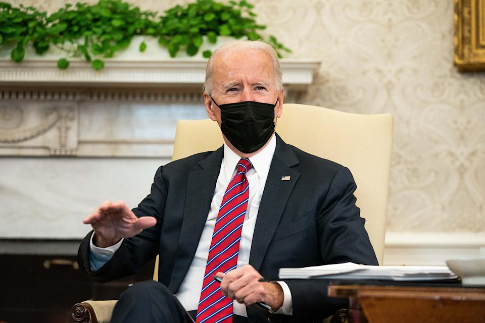 President Joe Biden, in a meeting Jan. 29. 2021, with Treasury Secretary Janet Yellen, stressed the need for a COVID-19 relief package.