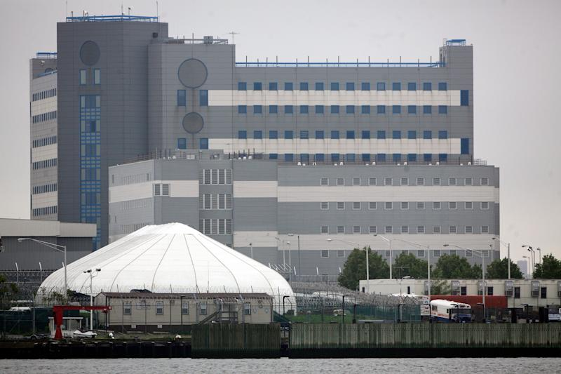 The buildings of the jail at Rikers Island